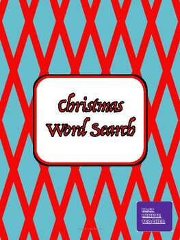 Christmas Word Search - Religious Words