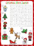 Christmas Word Search Worksheet | Free/Freebie
