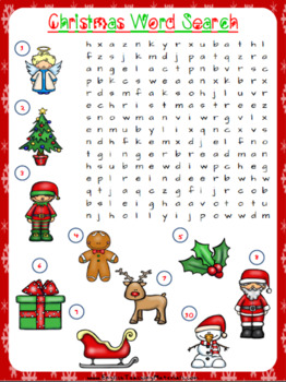 Christmas Word Search Worksheet | Free/Freebie