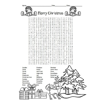 Christmas Word Search and Maze