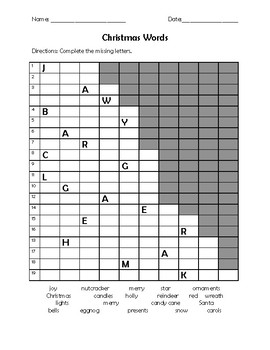Christmas Word Search and Activities