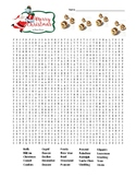 Christmas Word Search (difficult)   (SUB PLAN use?)