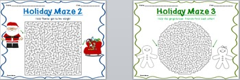 Christmas Word Searches and Mazes!