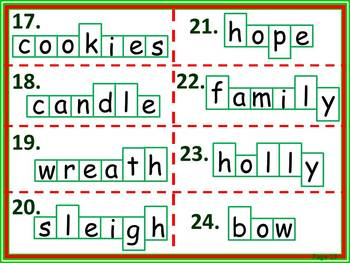 Christmas Word Shape Puzzles