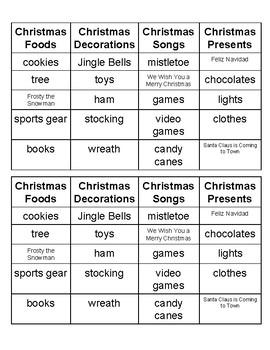 Christmas Word Sort