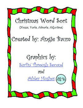 christmas themed words
