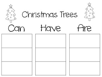 Christmas Word Tree Maps