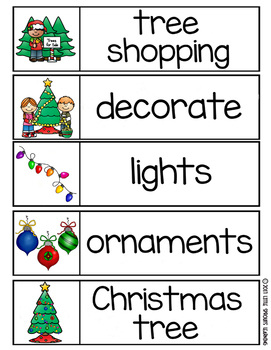 Christmas Word Wall - 65 word cards 2 sizes, plus word list