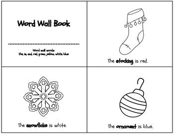 Christmas Word Wall Book