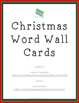 Christmas Word Wall Cards