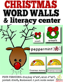 Christmas Word Wall and Literacy Center