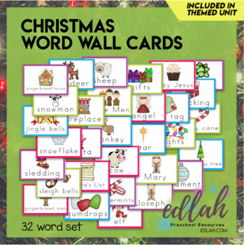 Christmas Word Wall Cards (set of 18)