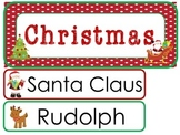 Christmas Word Wall Weekly Theme Posters.