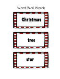 Christmas Word Wall Words Freebie