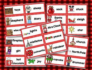 Christmas {Illustrated Word Cards}