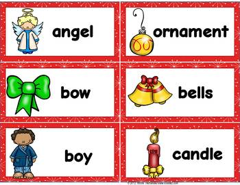 Christmas Word Wall Vocabulary Cards