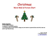 Christmas Word Wall and Picture Chart