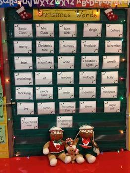 Christmas Word Wall and Playing Cards