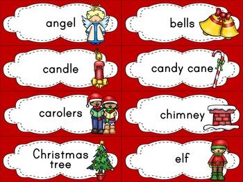 Christmas Word Wall and Vocabulary