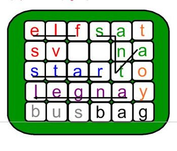 Christmas Word Wobble Game (word search, spelling, PowerPoint,wordsearch)