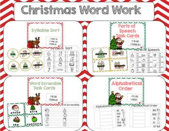 Christmas Word Work