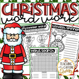 Christmas Word Work Activities - NO PREP - Use with ANY word list!