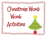 Christmas Word Work Activities for Students