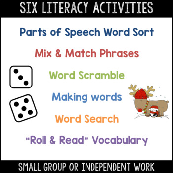 Christmas Word Work & Literacy Activity Packet