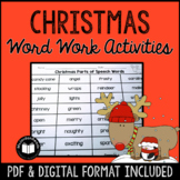 Christmas Word Work Activity Packet