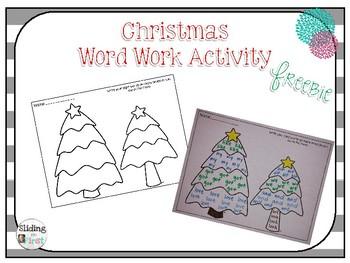 Christmas Word Work Activity {freebie}