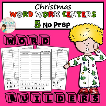 Christmas Word Work Centers