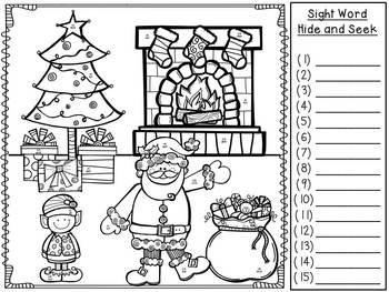 Christmas Word Work FREEBIE