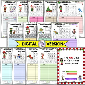 Christmas Word Work FUN for the 12 Days of Christmas - Christmas Literacy Center