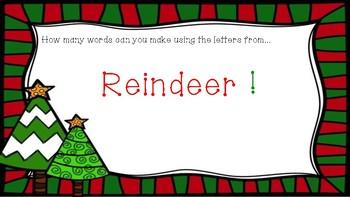 Christmas Word Work Powerpoint