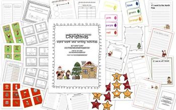 Christmas Word Work and Writing
