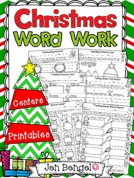 Literacy Centers - Christmas Word Work for Big Kids
