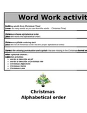 Christmas Word Works Activities