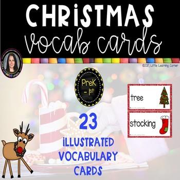 Christmas Vocabulary Word Cards ~ Chevron