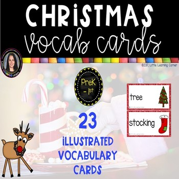 Christmas Vocabulary Word Cards ~ Chevron