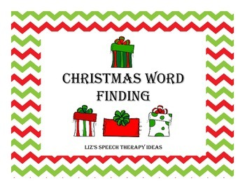 Christmas Word Finding