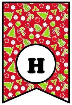 Christmas Words, Art & 'Happy Holidays' Letters Bulletin Board Set, Bundle