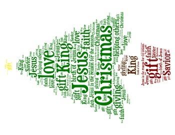 Christmas Words Christmas Tree