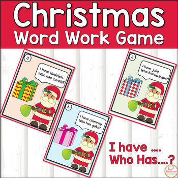 Christmas Words Fun ,I have Who Has?
