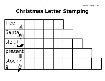 Christmas Words Letter Stamping