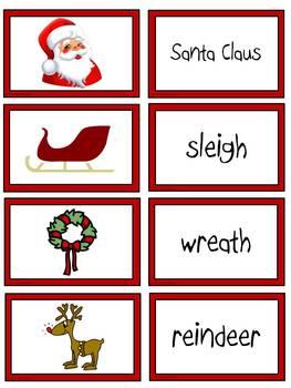 Christmas Words Matching
