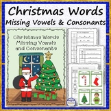 Christmas Words Missing Vowels and Consonants