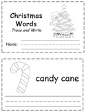 Christmas Words Trace & Write Book
