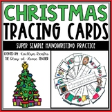 Christmas Words Tracing Cards