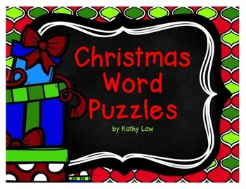 Christmas Word Puzzles - Word Work