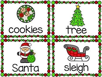 Christmas Words Write-Around-the-Room